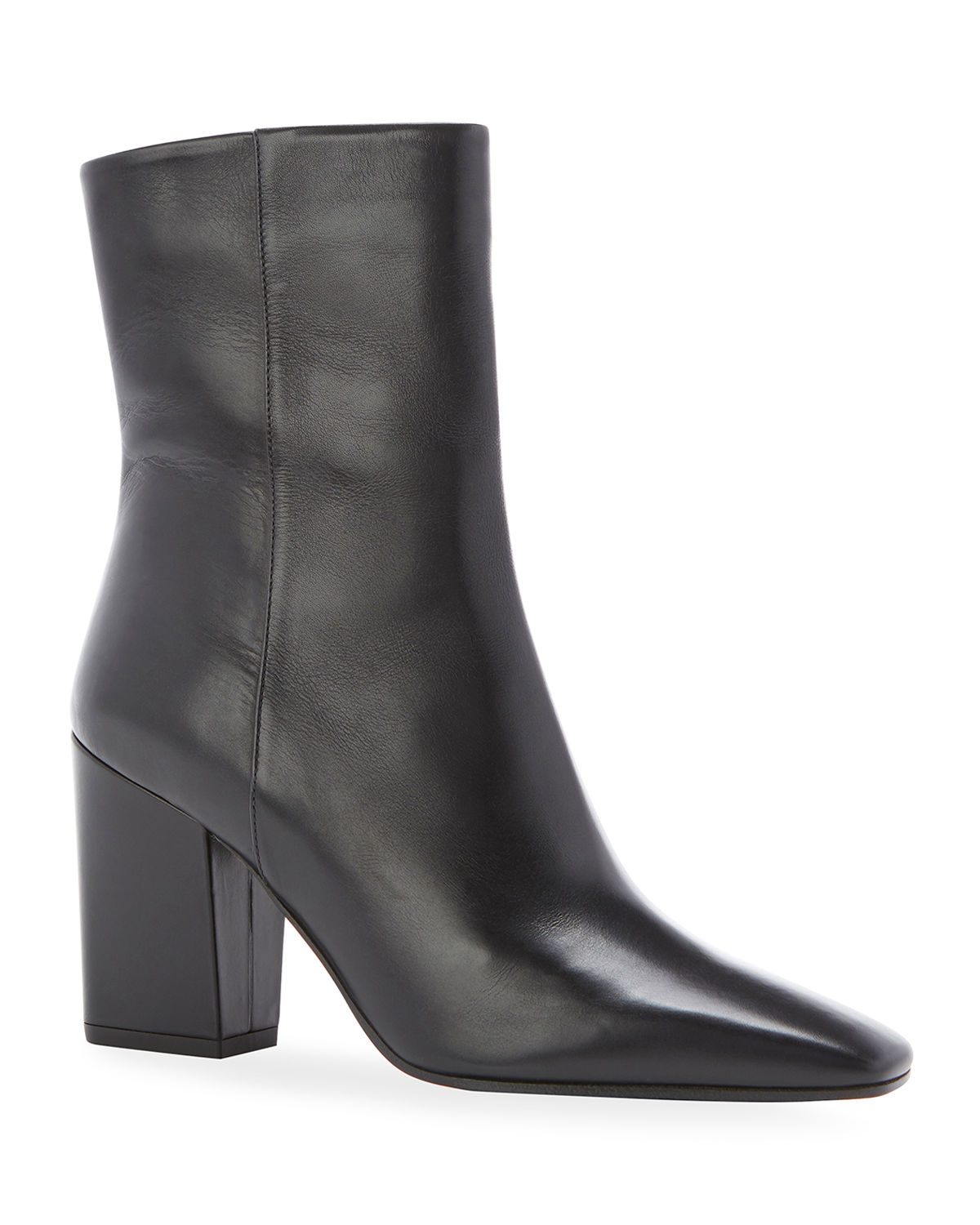 Winnie Square-Toe Leather Ankle Boots
