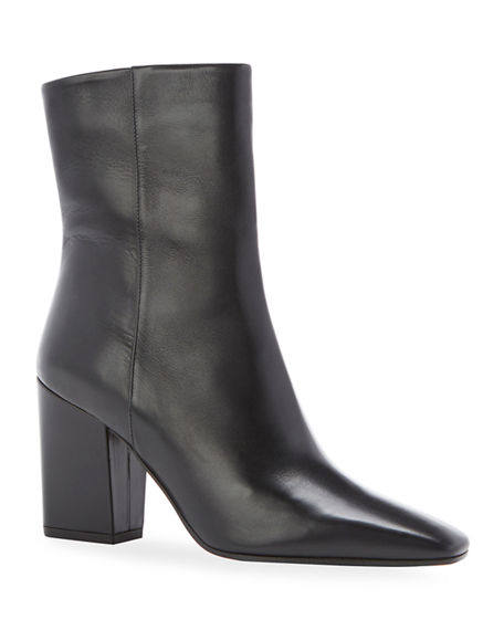 Marion Parke Winnie Square-Toe Leather Ankle Boots