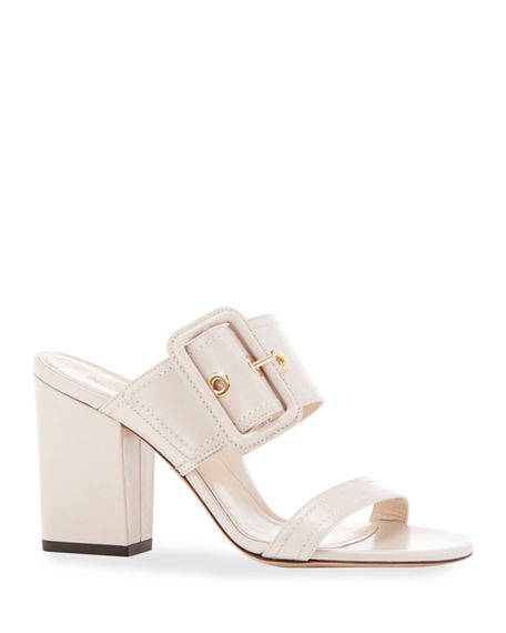 Marion Parke Louise Buckle Slide Sandals
