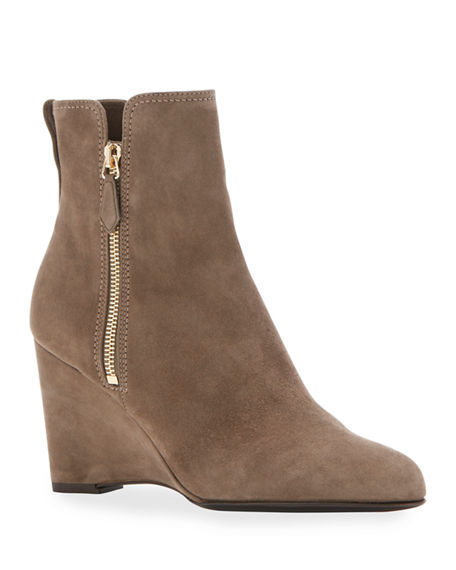 Marion Parke Driscoll Suede Ankle Zip Booties