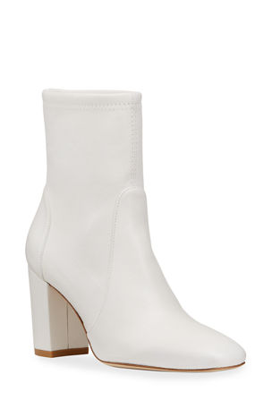 Stuart Weitzman Caressa Square-Toe Stretch Ankle Boots