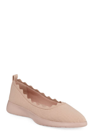 Taryn Rose Dasha Knit Slip-On Ballet Flats