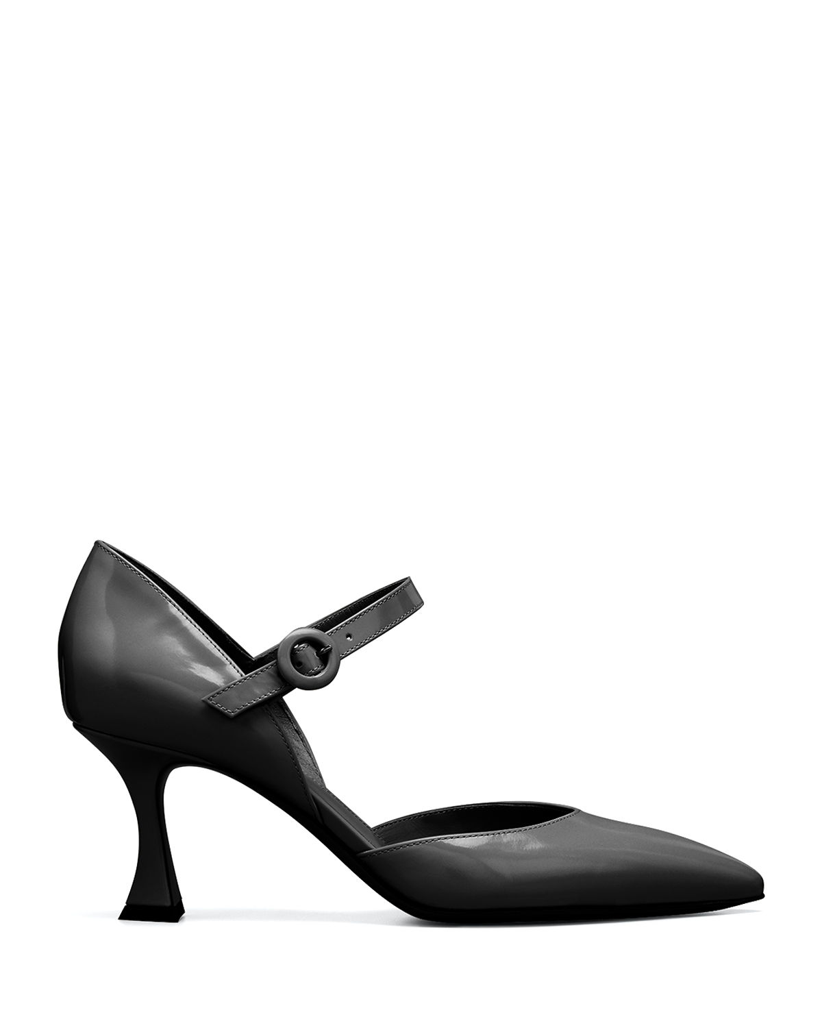 70mm Leather Mary Jane Pumps