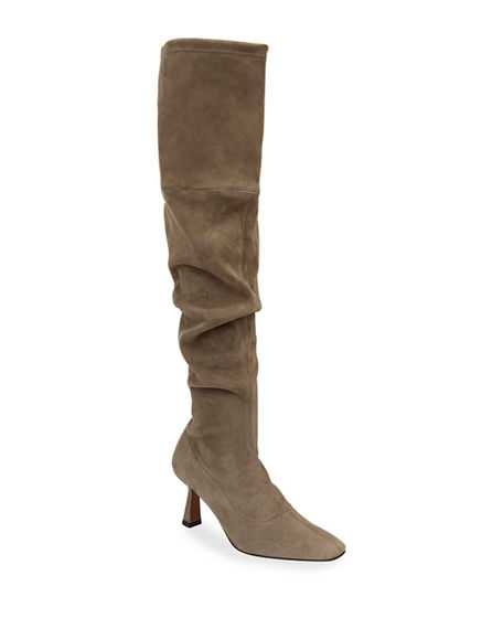 Lafayette 148 New York Pia 65mm Stretch Suede Slouchy Tall Boots