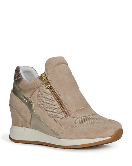 Geox Nydame Mix-Media Wedge Sneakers