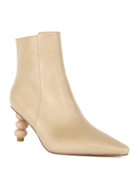 CAVERLEY Olga Zip Ankle Boots with Sculpted Heel