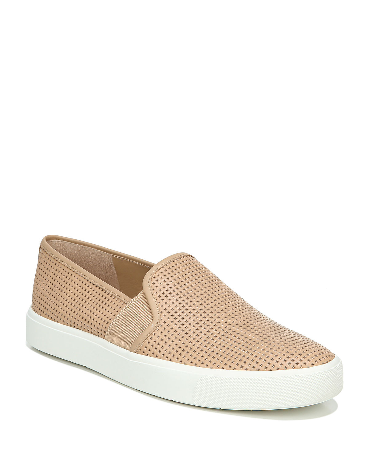 Blair Perforated Leather Slip-On Sneakers