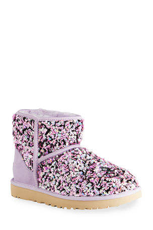 UGG Classic Mini Stellar Sequined Ankle Boots