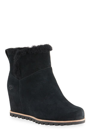 UGG Seyline Waterproof Suede Wedge Booties