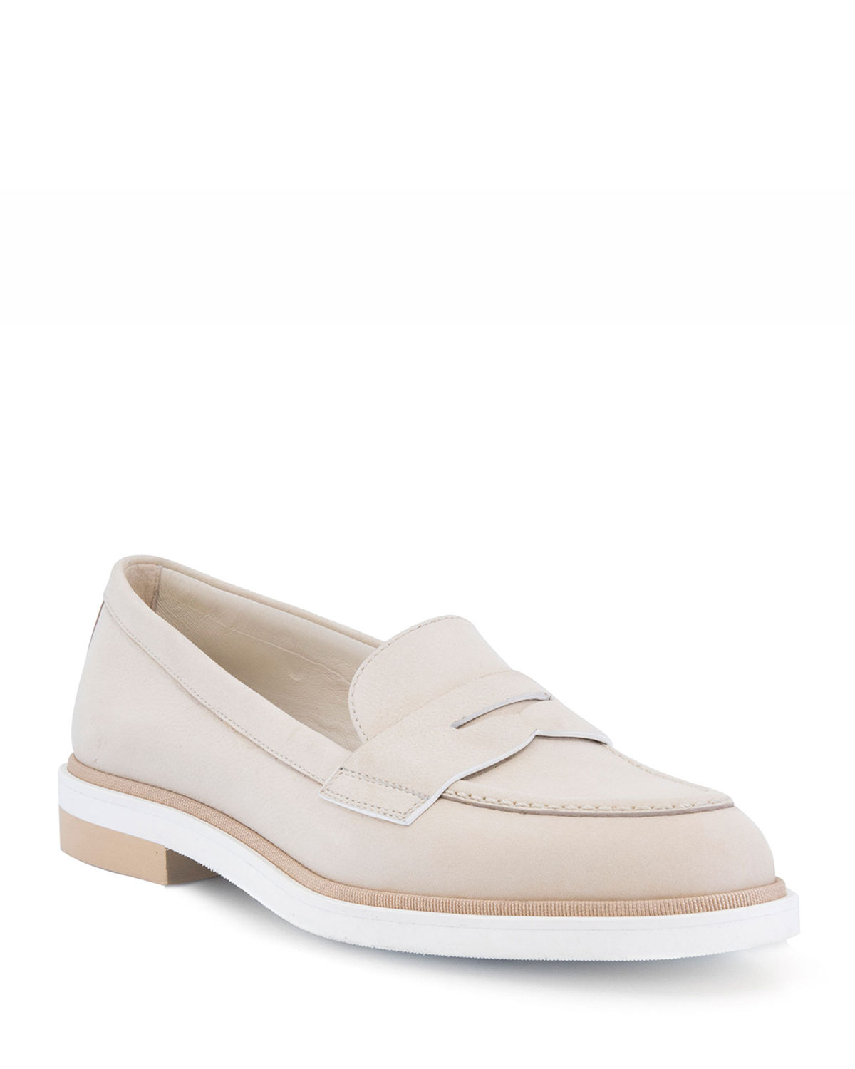 Nubuck Leather Penny Loafers