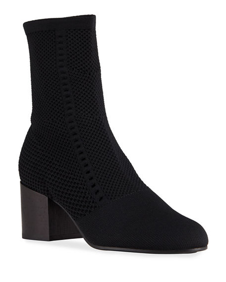 Eileen Fisher Choice Mesh-Knit Ankle Booties