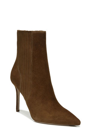 Veronica Beard Lisa Suede Stiletto Ankle Booties