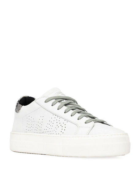 P448 Leather Platform Court Sneakers
