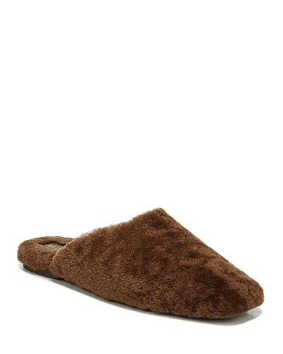Caela Curly Shearling Flat Slippers