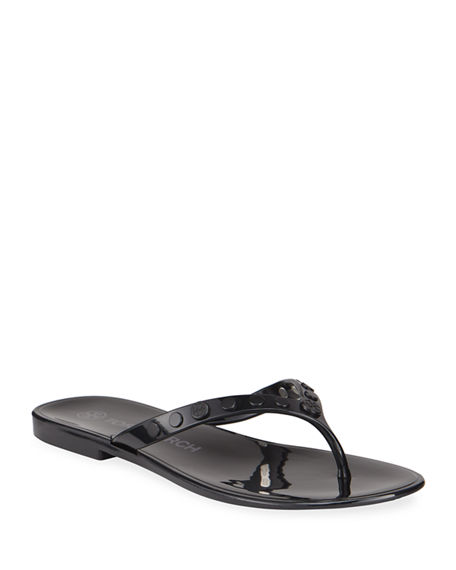 Tory Burch Studded Jelly Thong Sandals