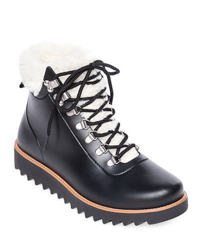 Wiley Lace-Up Rubber Rain Booties