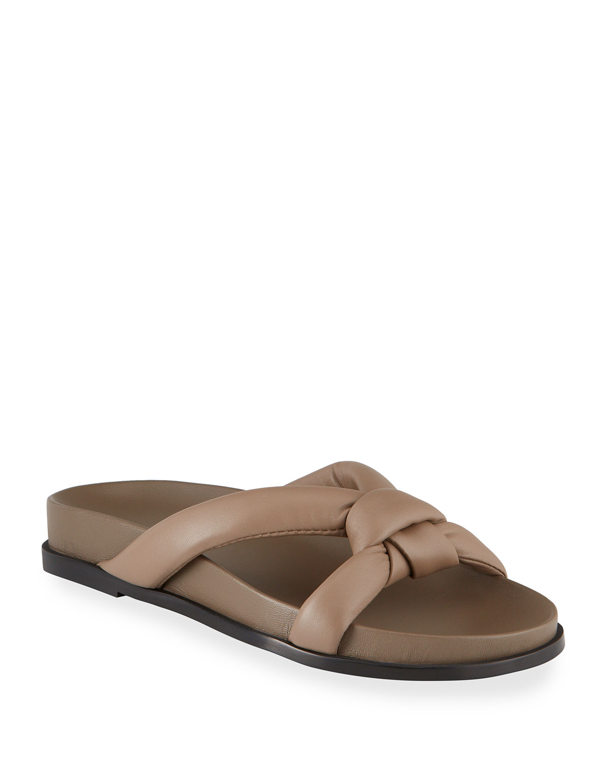 Honore Knotted Flat Slide Sandals