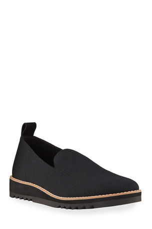 Eileen Fisher Embrace Knit Slip-On Loafers