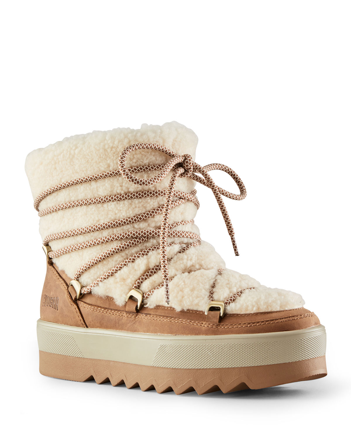 Verity Leather Shearling Winter Booties
