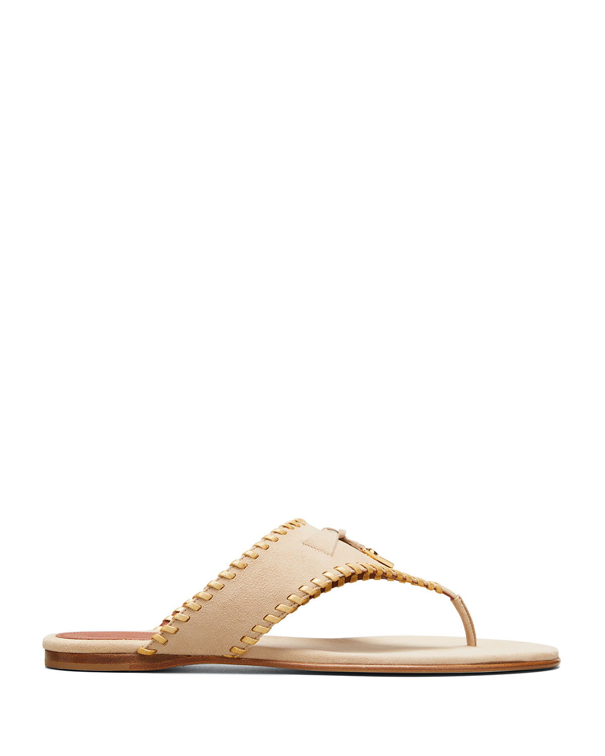 Jovis Leather Charm Thong Sandals