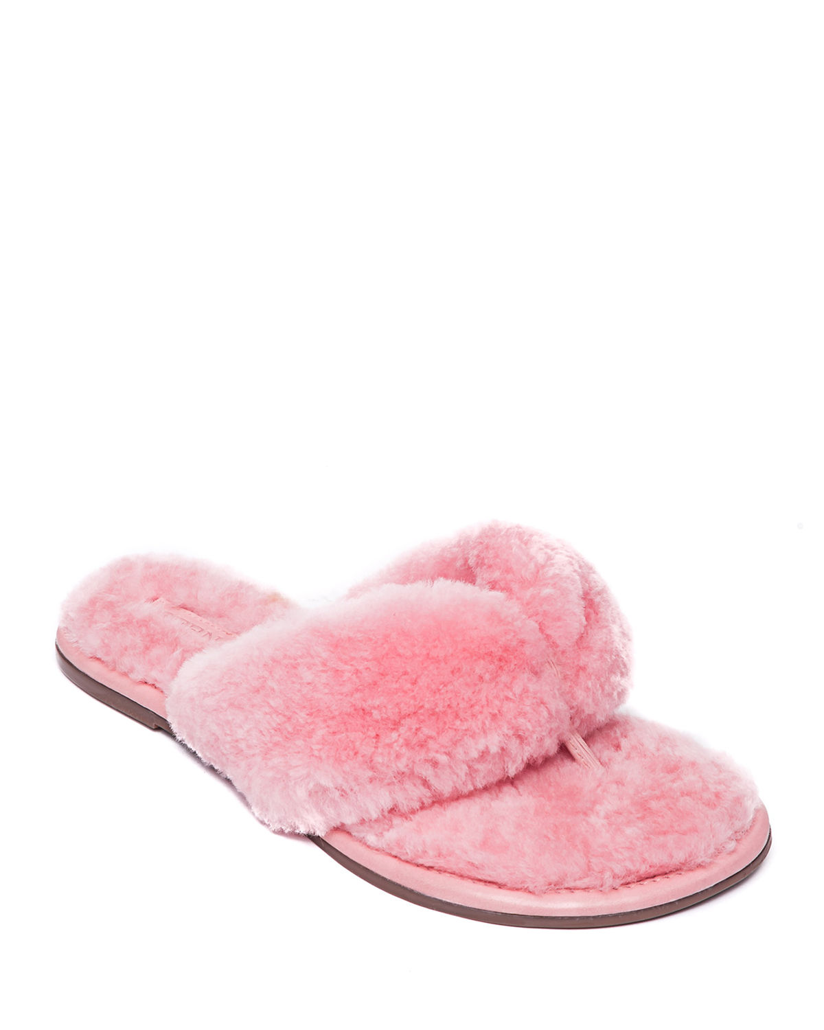 Cozy Shearling Thong Sandals