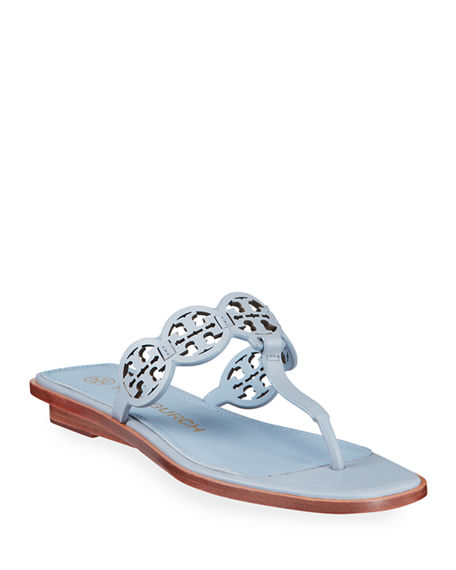 Tory Burch Tiny Miller Leather Medallion Thong Sandals