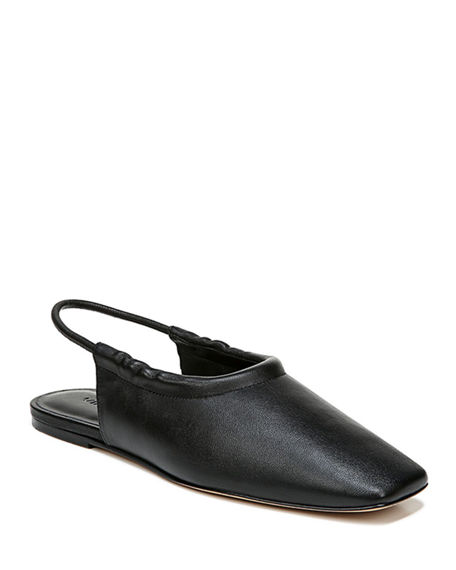 Image 1 of 4: Vince Cadya Leather Slingback Ballerina Flats