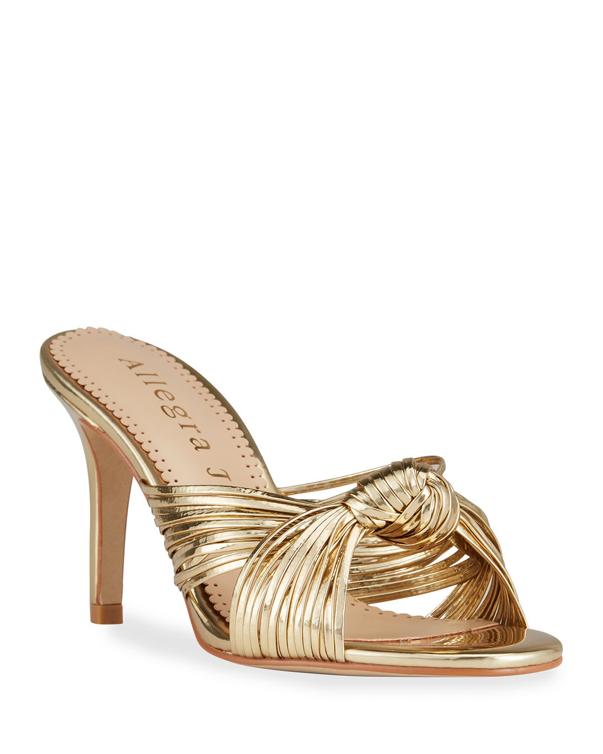 Marly Metallic Knot Mule Sandals