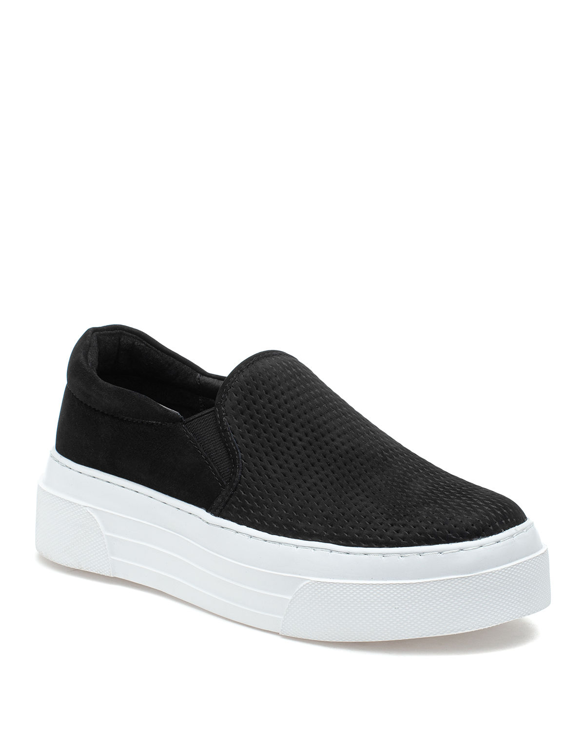 Jslides AILEEN PERFORATED LEATHER SLIP-ON SNEAKERS