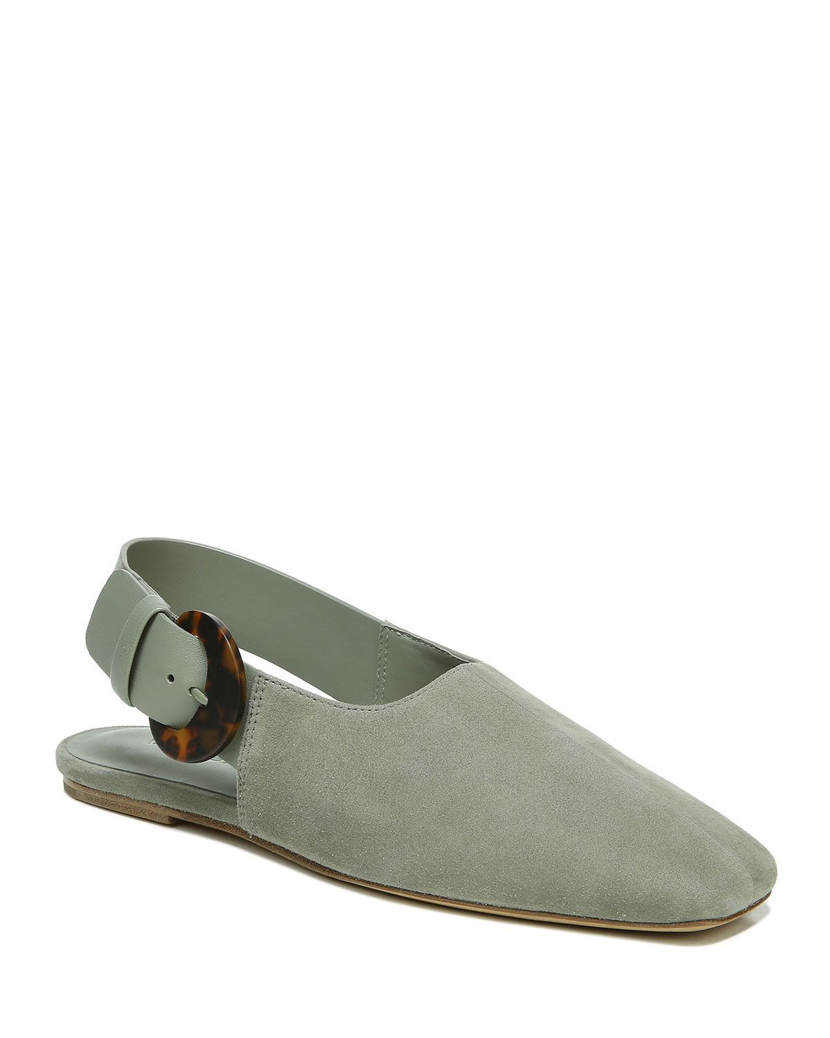 Vince CADOT MIXED LEATHER SLINGBACK FLATS