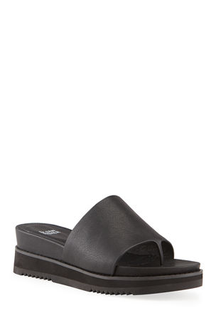 Eileen Fisher Touch Leather Thong Sandals