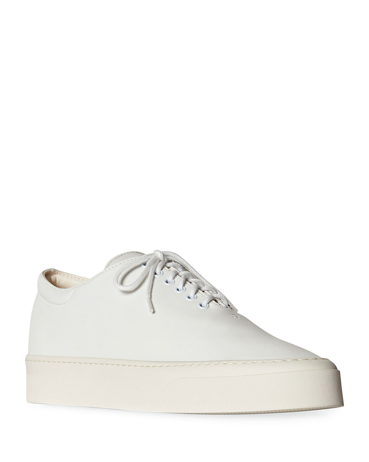 The Row MARIE LEATHER LOW-TOP SNEAKERS