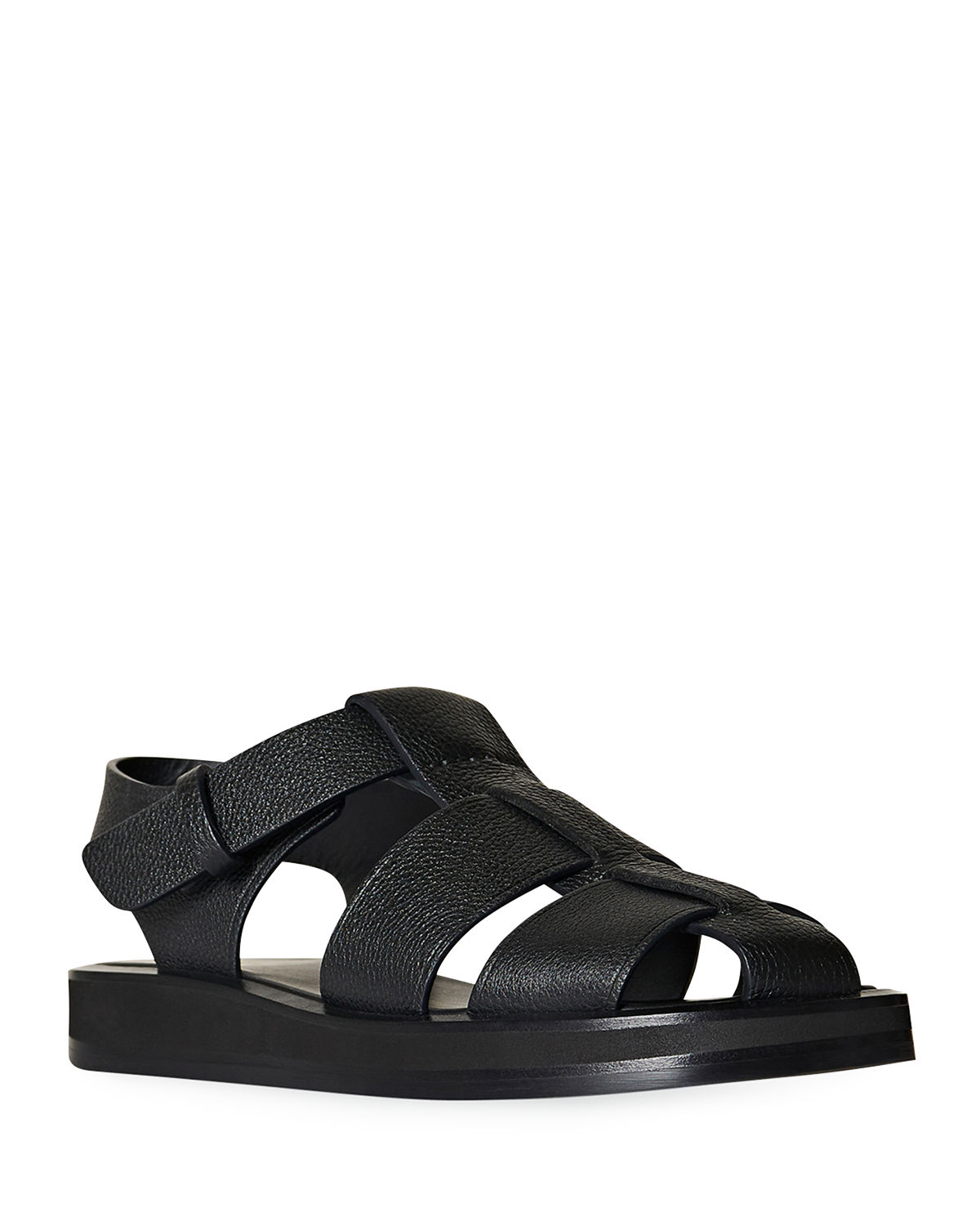 The Row Leathers FISHERMAN WOVEN SPORTY SANDALS