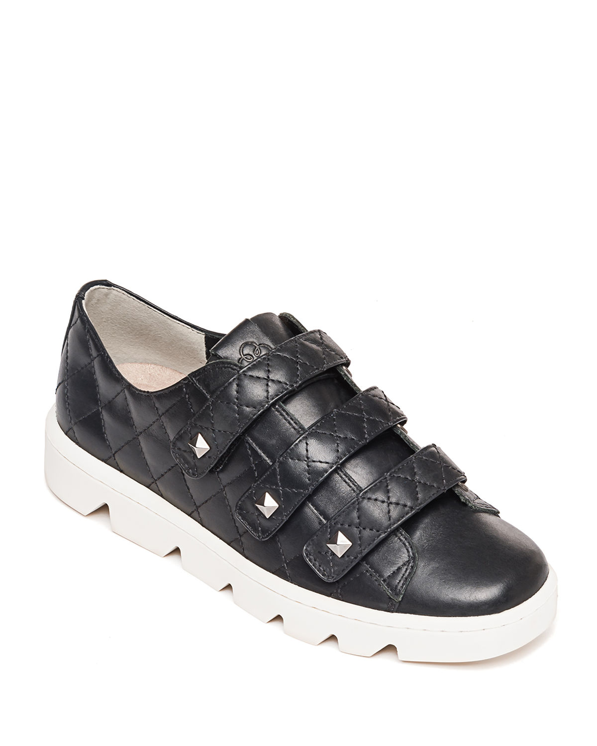 Dillon Quilted Stud Grip-Strap Sneakers