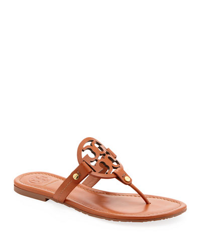 Miller Medallion Leather Flat Thong