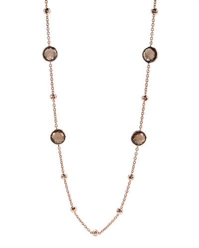 Rose Mini Lollipop Quartz Necklace, 37