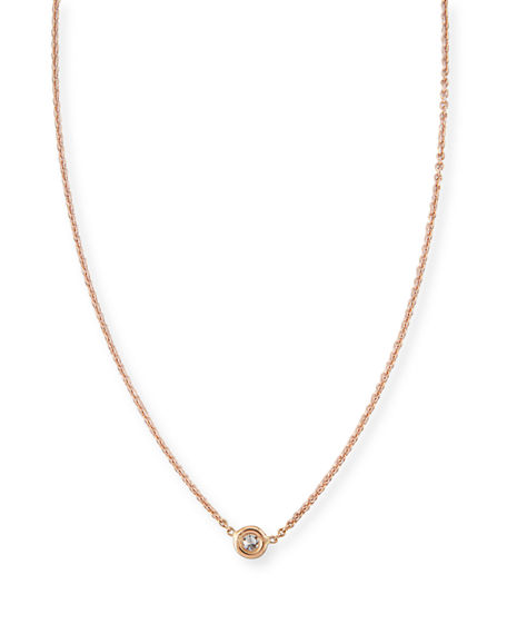 Roberto coin 18k gold single diamond necklace neiman marcus 18k gold single diamond necklace aloadofball Image collections