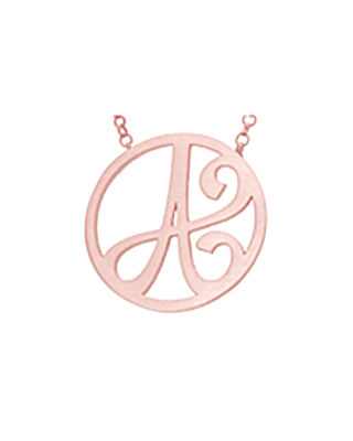 Mini Single Initial Necklace Gold, 18""