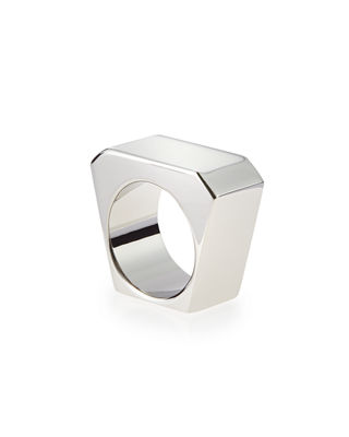 Image 2 of 2: Black/Golden Colorblock Ring