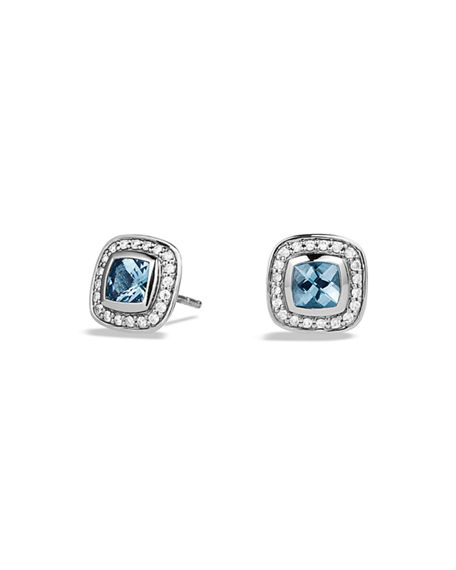 David Yurman Petite Albion Earrings with Gemstone and Diamonds
