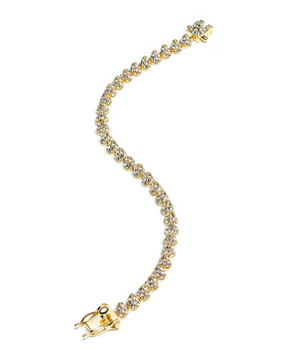 Eddie Borgo Yellow Gold Plated Pave Crystal Mini