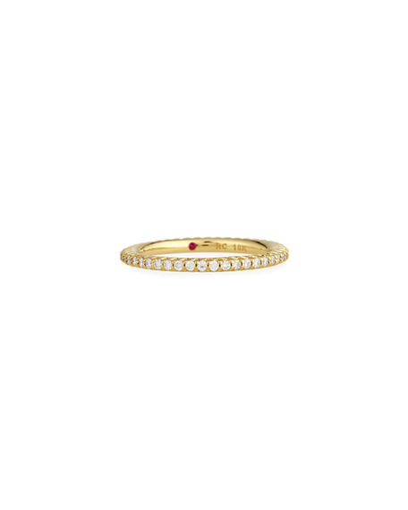 Roberto Coin Micro Pave Diamond Eternity Band in 18K Gold