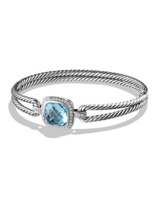 David Yurman Albion Bracelet with Blue Topaz and