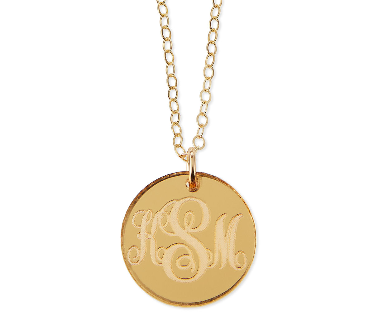 de6fc550a8 Providence Mirrored Acrylic Reverse Monogram Pendant Necklace