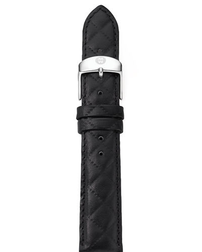 16mm Quilted Leather Strap