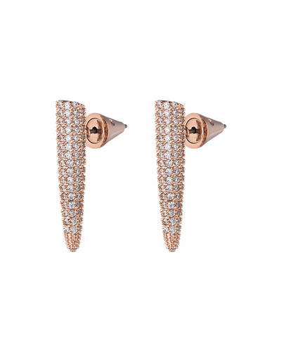 Eddie Borgo Pave Crystal Mini Spike Earrings