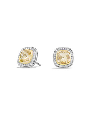 David Yurman Albion Stud Earrings with Diamonds and