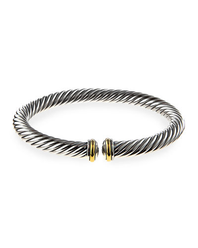 David Yurman 7mm Cable Spira Sterling Silver Bracelet