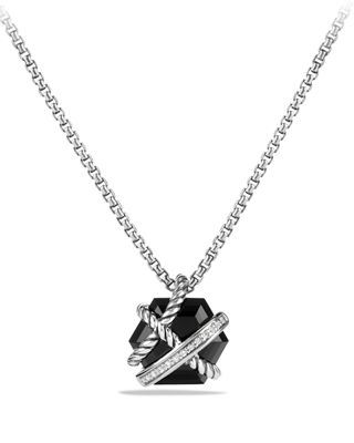 Image 1 of 3: Cable Wrap Necklace with Diamonds