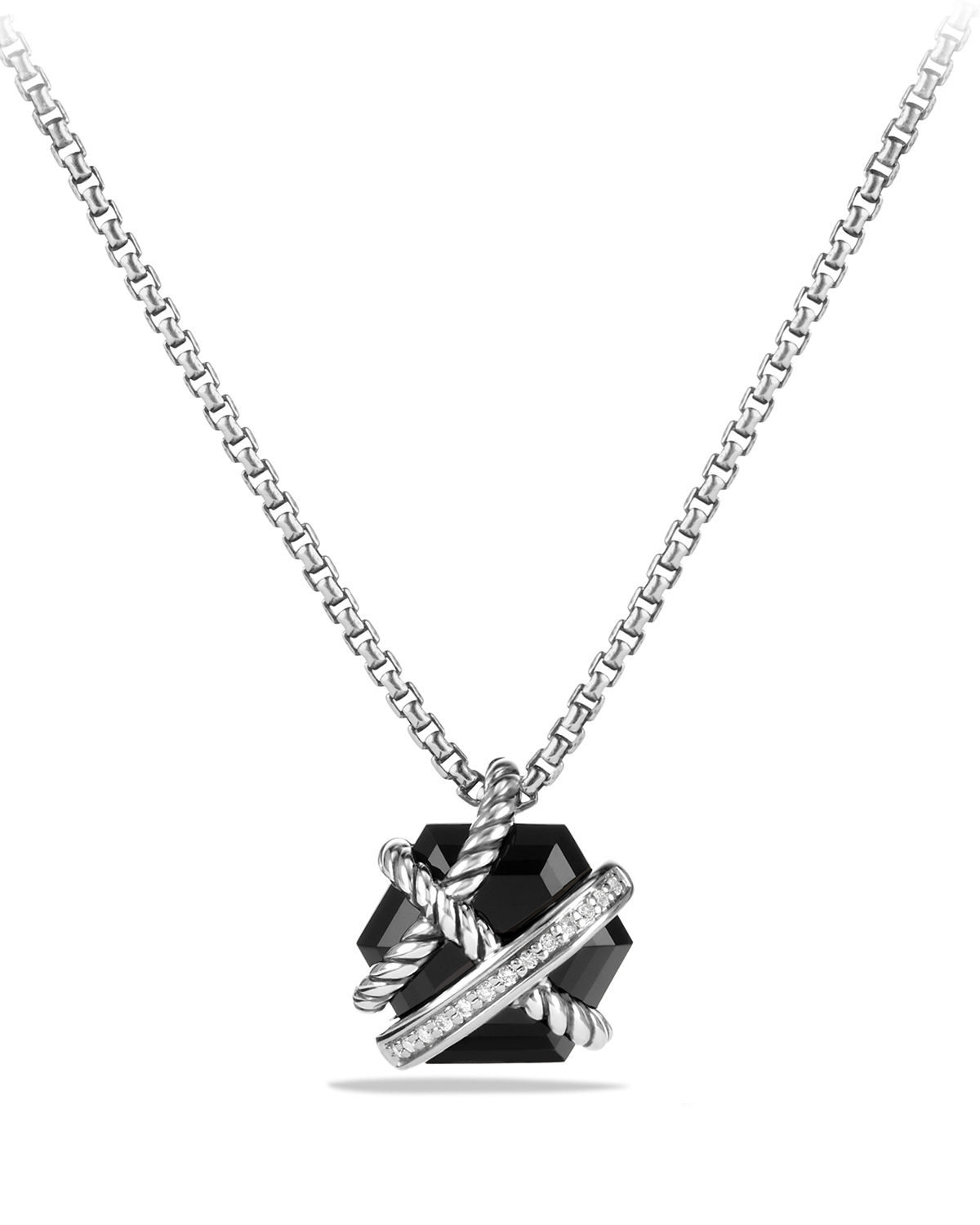Cable Wrap Necklace with Diamonds